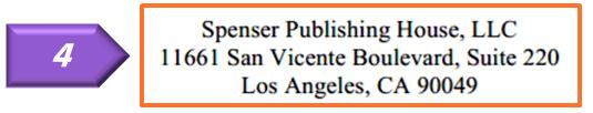 publisher address on copyright page